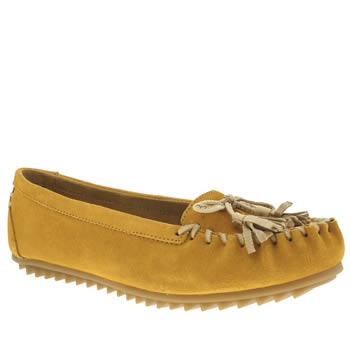 Womens Hush Puppies Yellow Create Tassle Flats