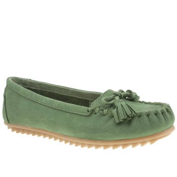 Hush Puppies Green Create Tassel Flats