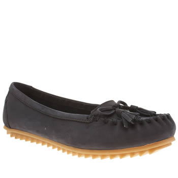 Hush Puppies Navy Create Tassle Womens Flats