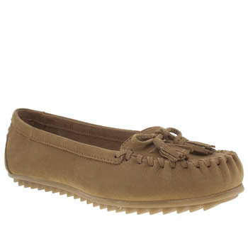 Hush Puppies Tan Create Tassle Womens Flats