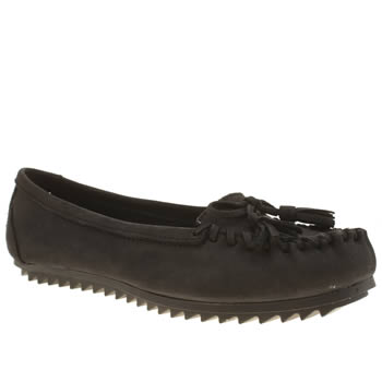 Hush Puppies Black Create Tassle Flats