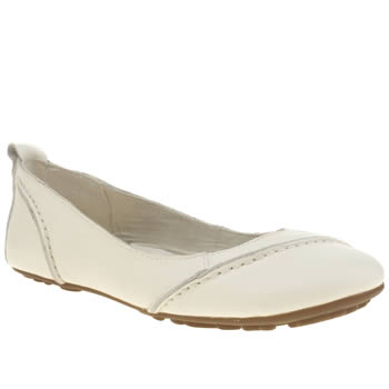Womens Hush Puppies White Janessa Flats