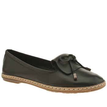 Hush Puppies Black Adena Piper Womens Flats