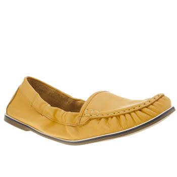 Womens Hush Puppies Yellow Karlotta Flats