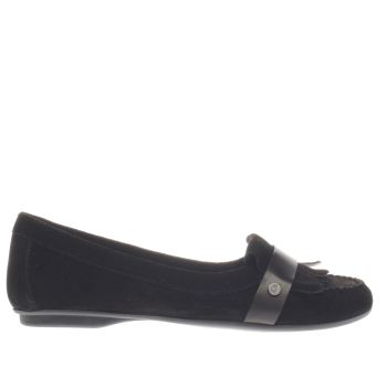 Hush Puppies Black Messitt Robyn Womens Flats