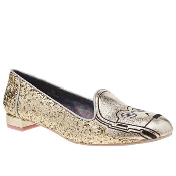 Irregular Choice Gold The Golden Droid Flats