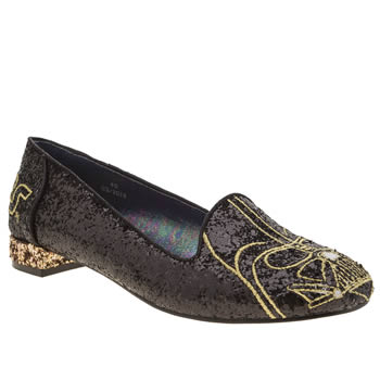 Irregular Choice Black I Am Your Father Flats