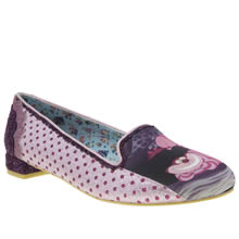 Irregular Choice Pink Alice Heres A Riddle Womens Flats