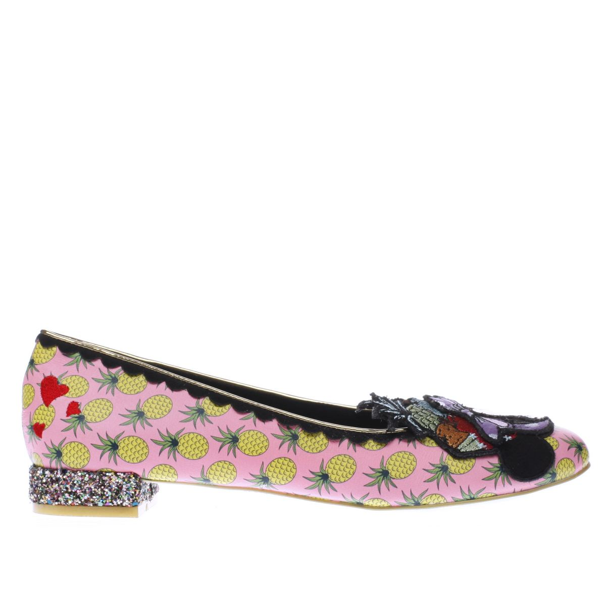 irregular choice pink x disney how do i look flat shoes