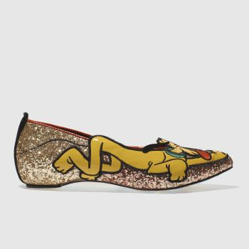 Irregular Choice Gold X Disney Pluto Womens Flats