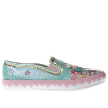 Irregular Choice Green Mistys Castle Womens Flats