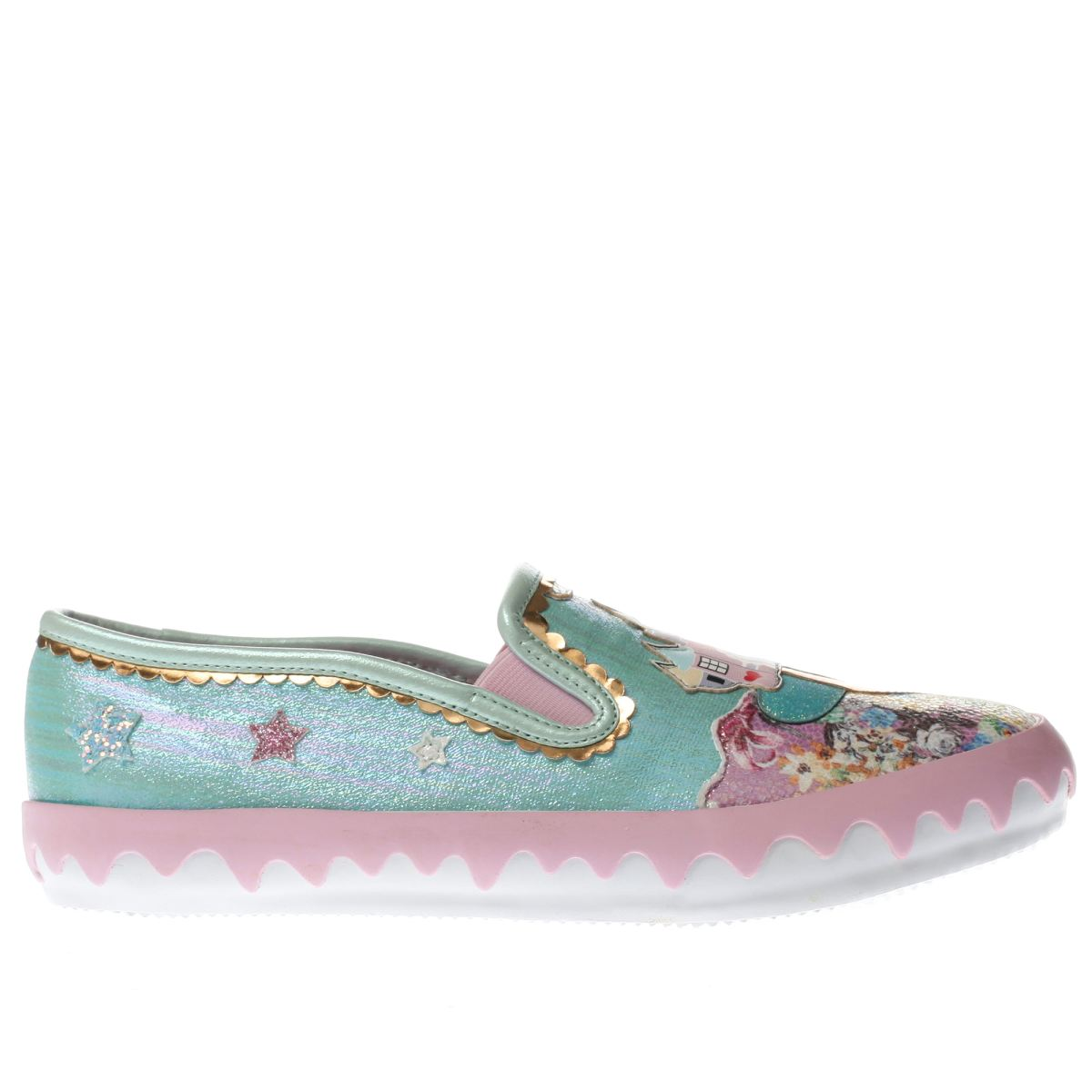 irregular choice aqua mistys castle flat shoes