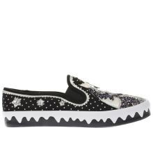 Irregular Choice Black & White Misty Reins Womens Flats