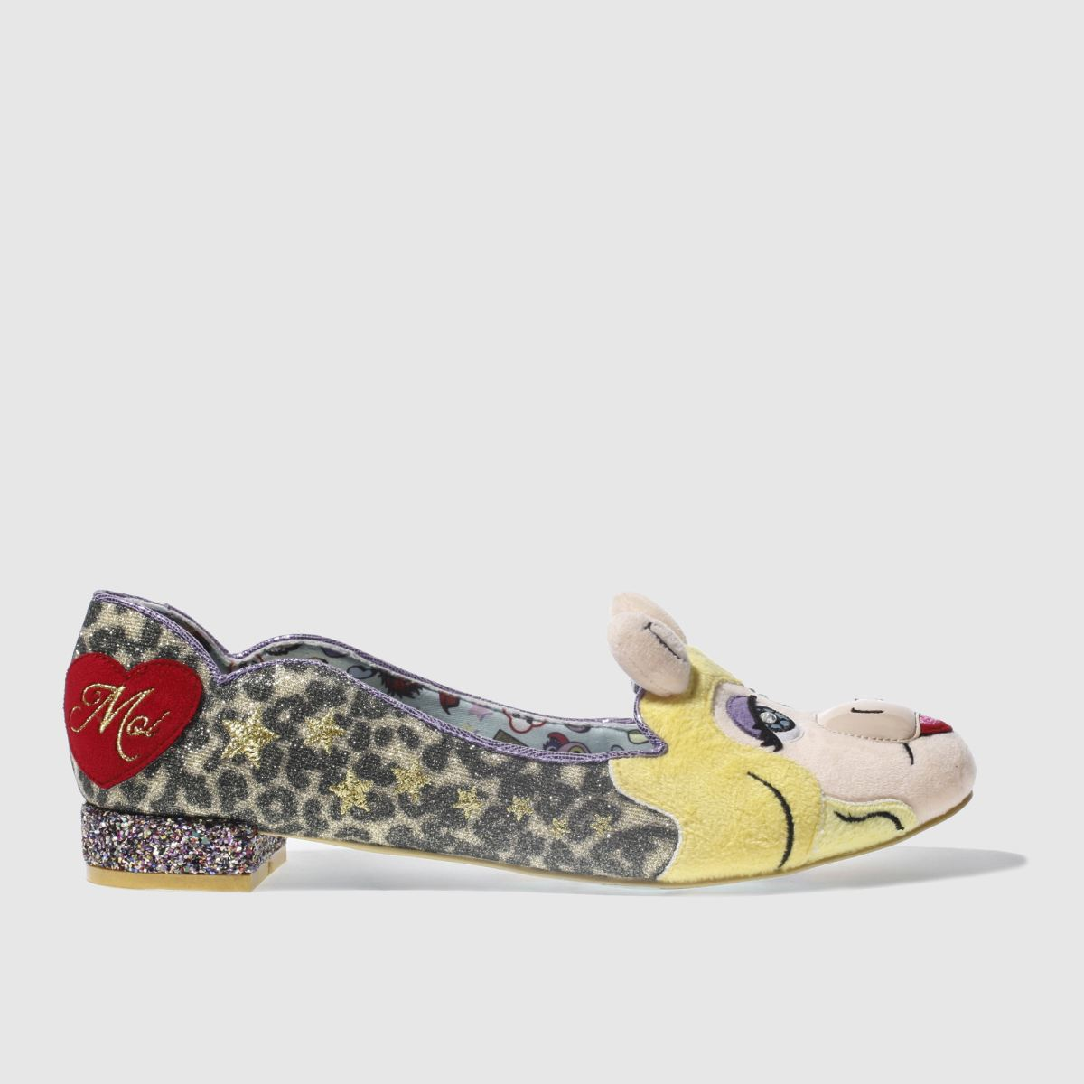 irregular choice beige & brown disney muppets her moiness flat shoes