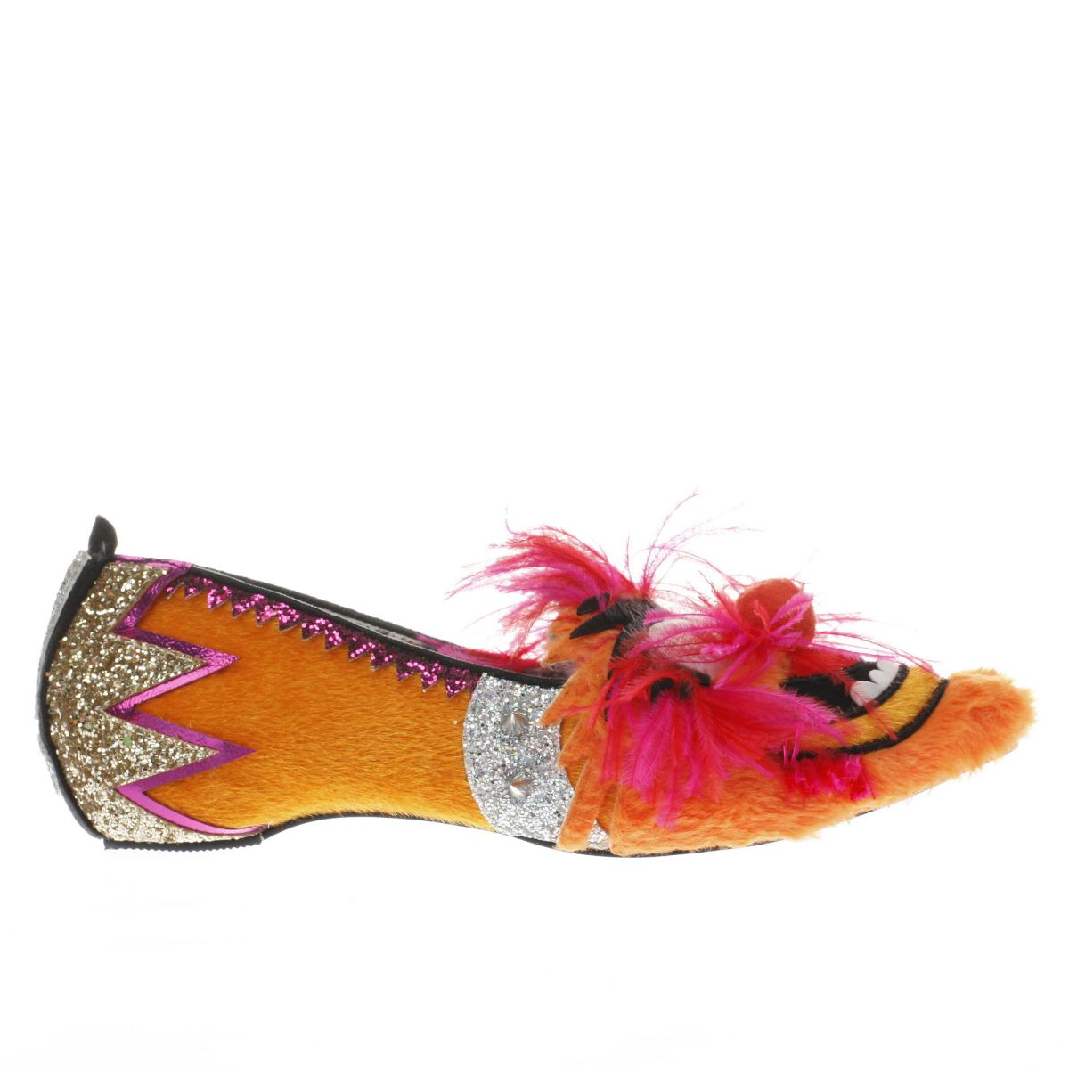 irregular choice orange disney muppets party animal flat shoes