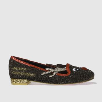 Irregular Choice Brown Red Nose Roo Womens Flats