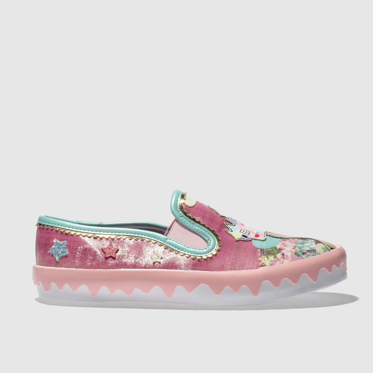 Irregular Choice Irregular Choice Pink Mistys Castle Flat Shoes