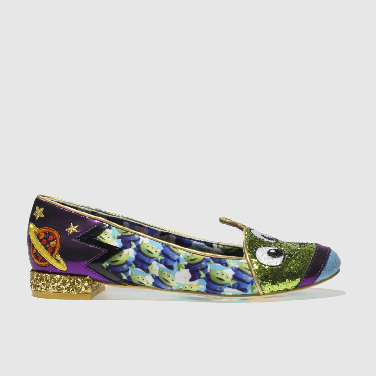 Irregular Choice Irregular Choice Green & Purple Eternally Grateful Flat Shoes