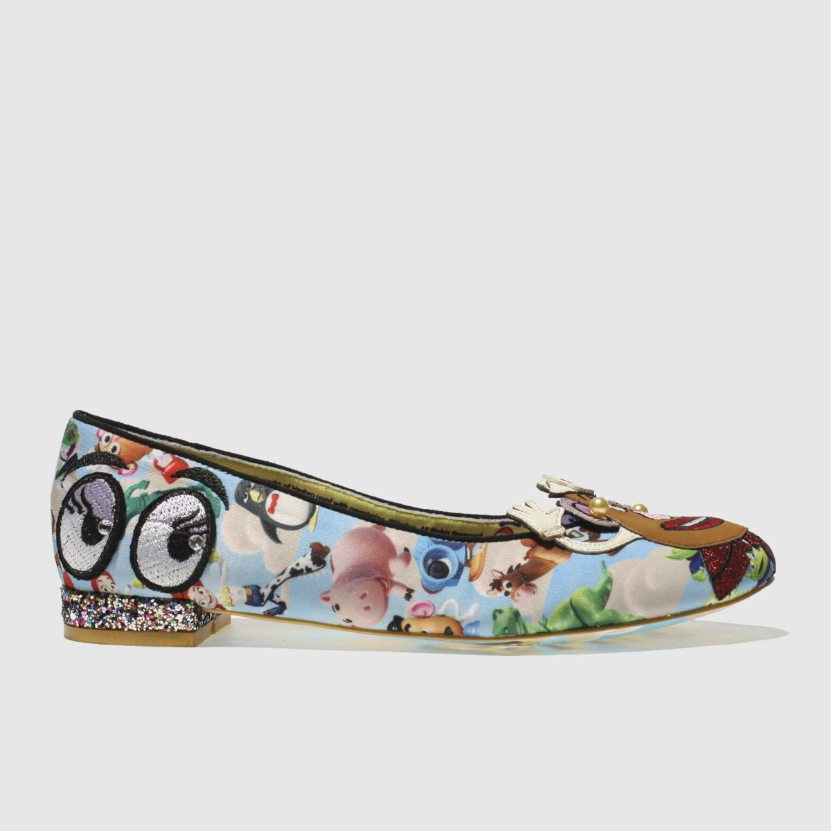 Irregular Choice Irregular Choice Blue & Brown Keep Em Together Flat Shoes