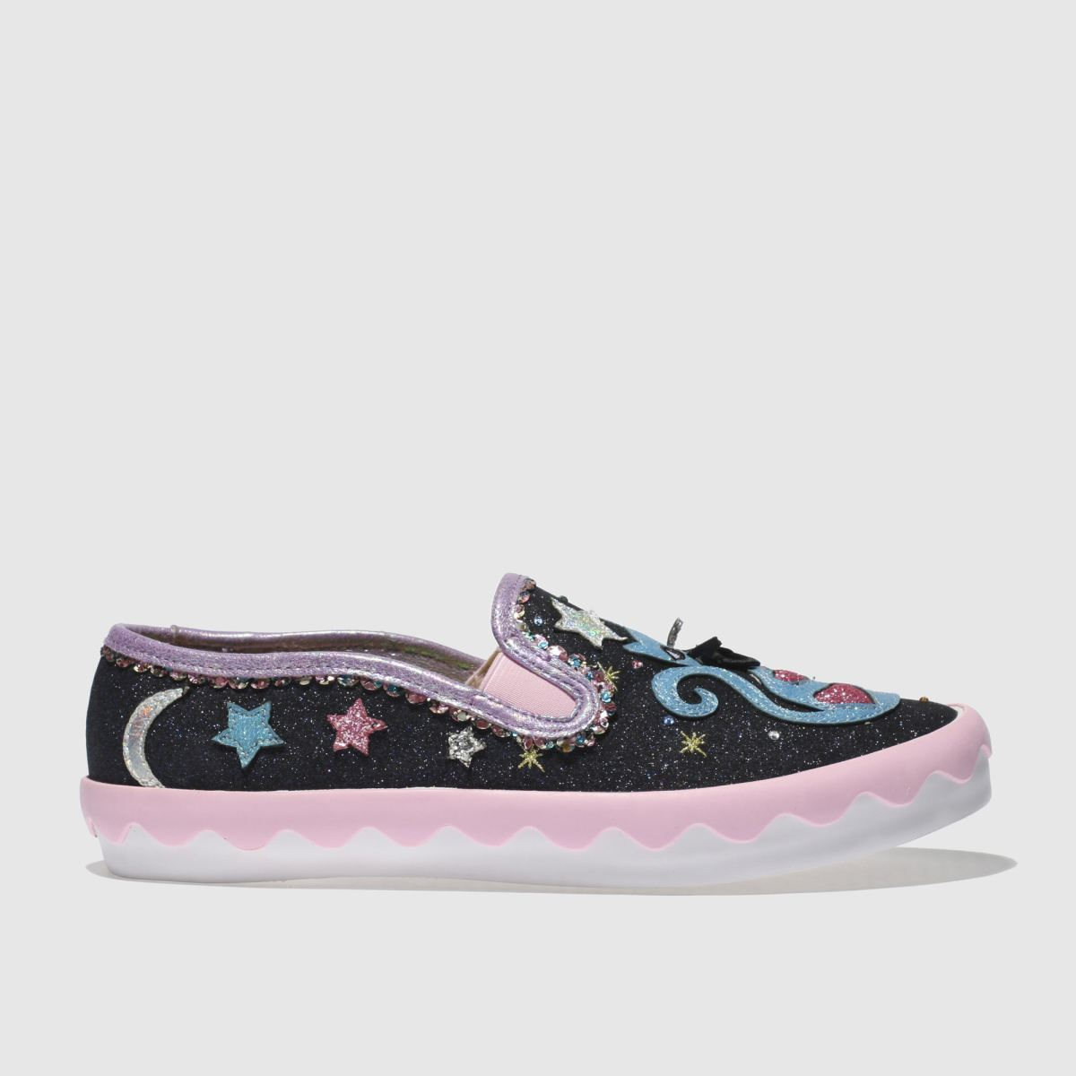 Irregular Choice Irregular Choice Black & Pink Pretty Kitty Flat Shoes