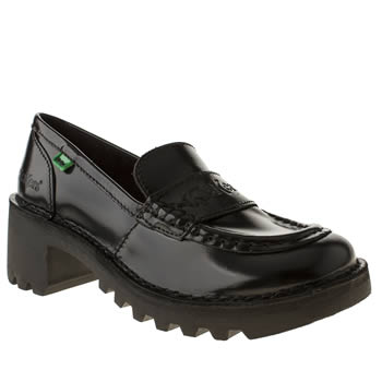 Womens Kickers Black Kopey Loafer Flats