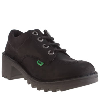 womens kickers black kopey lo flat shoes