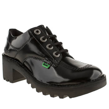 Womens Kickers Black Kopey Lo Flats