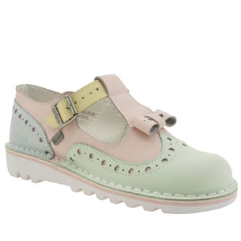Womens Kickers Multi Bow Brogue Flats