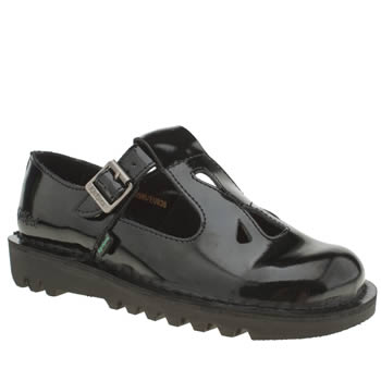 Womens Kickers Black Adlar Flats