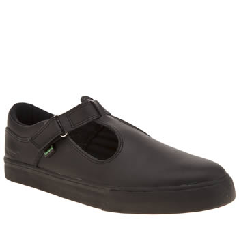 Kickers Black Tovni T-bar Womens Flats
