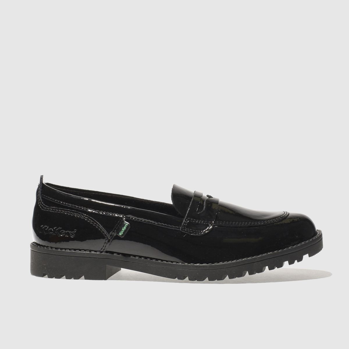 kickers black lachly loafer flat shoes