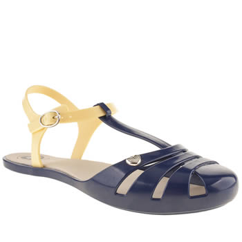 womens mel navy marshmellow flat shoes