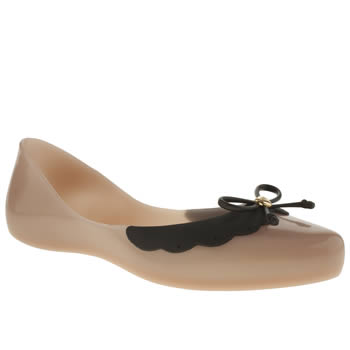 Womens Mel Natural Dreaming Bow Flats