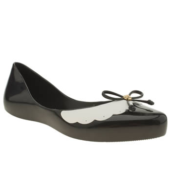 Mel Black & White Dreaming Bow Flats