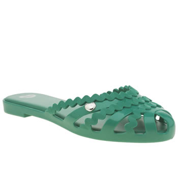 Womens Mel Turquoise Jelly Flats