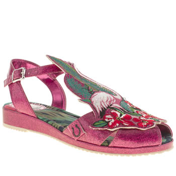 Womens Miss L-Fire Pink Flamingo-a-gogo Flats
