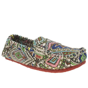 womens mocks multi canvas moccasin aztec flat shoes