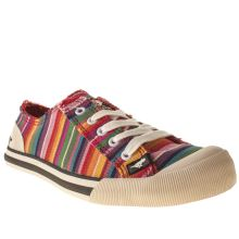 Rocket Dog Red & Yellow Jazzin Stripe Womens Flats