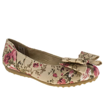 womens rocket dog natural ramona safari blossom flat shoes