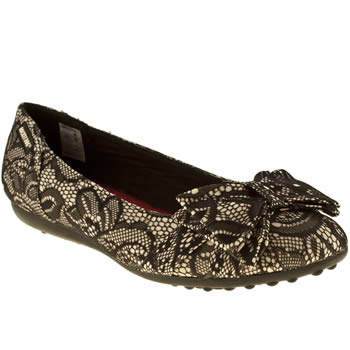 womens rocket dog black ramona boudoir lace flat shoes