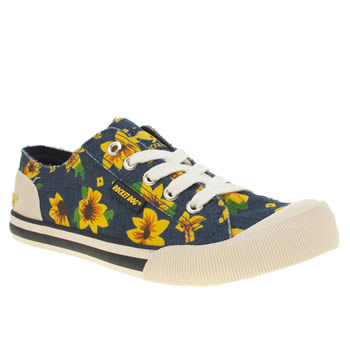 Womens Rocket Dog Navy Jazzin Sunddrop Daisy Flats