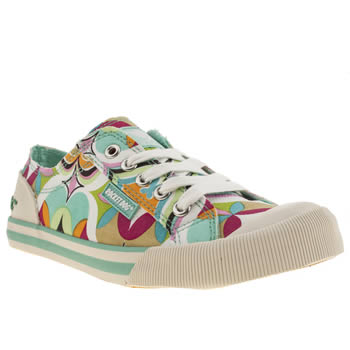 Womens Rocket Dog Multi Jazzin Iv Get Away Flats