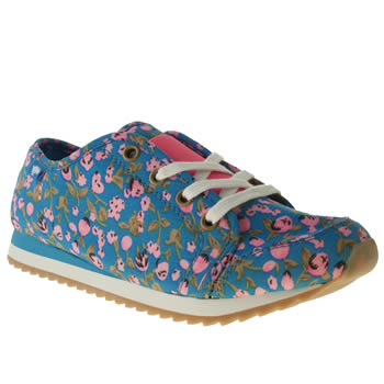 womens rocket dog blue andrea adios happy flower flat shoes