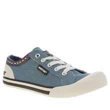 Rocket Dog Pale Blue Jazzin Joker Flats