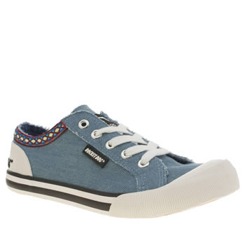 Rocket Dog Pale Blue Jazzin Joker Womens Flats