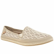 Rocket Dog Natural Wheelie Lovely Crochet Womens Flats