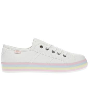 Rocket Dog White Magic Rainbow Flats