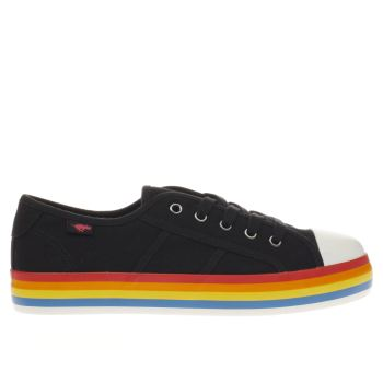 Rocket Dog Black & White MAGIC RAINBOW Flats