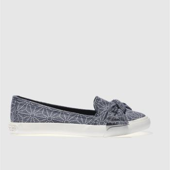 ROCKET DOG NAVY & WHITE CLARITA TIZER FLAT SHOES