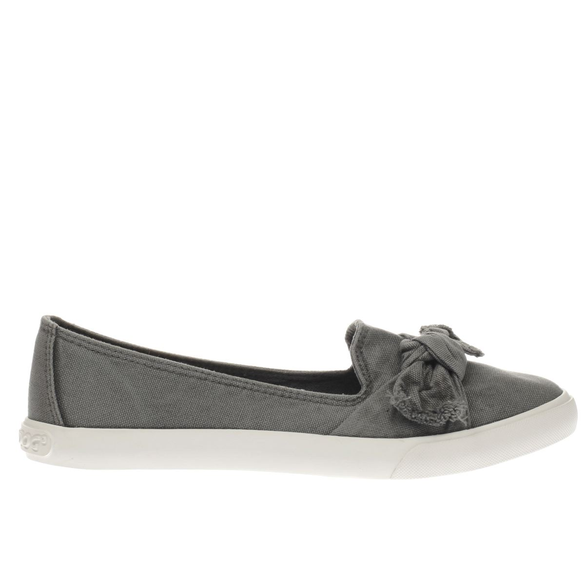 rocket dog grey clarita beach canvas flat shoes